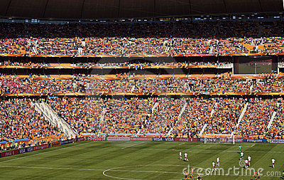 Soccer Supporters at Soccer City - FIFA WC 2010 Editorial Photography