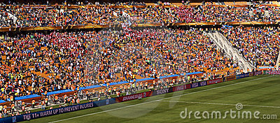 Soccer Supporters at Soccer City - FIFA WC 2010 Editorial Stock Photo