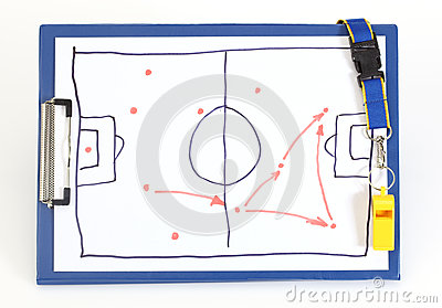 Soccer tactical plan Stock Photo