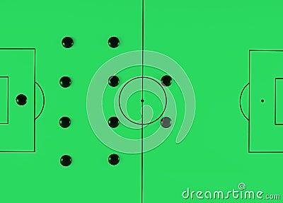Soccer tactics 442