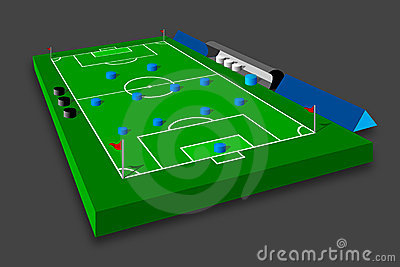 Soccer tactics on field