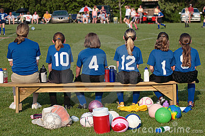 Soccer Team on Sidelines 3