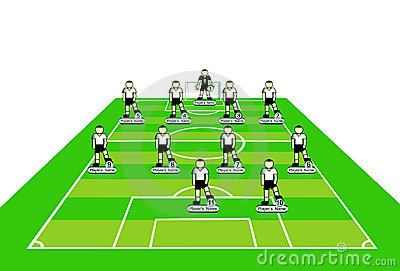 Soccer team tactical scheme.