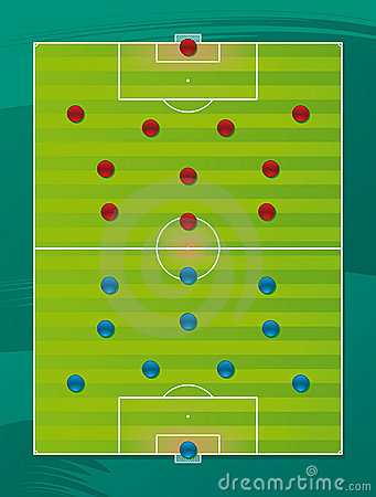 Soccer team tactics field