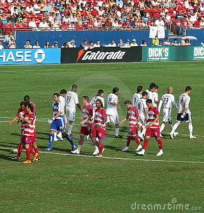Soccer Teams Editorial Stock Image