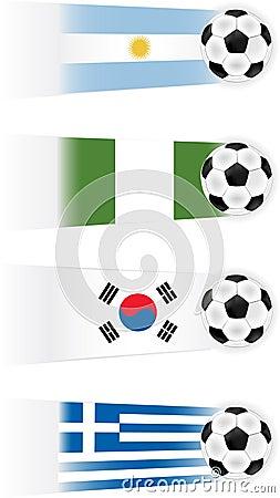 Soccer Teams Illustrations