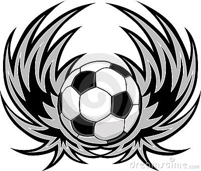 Soccer Template with Wings