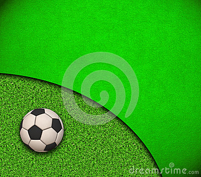 Soccer Wallpaper. Ball on grass