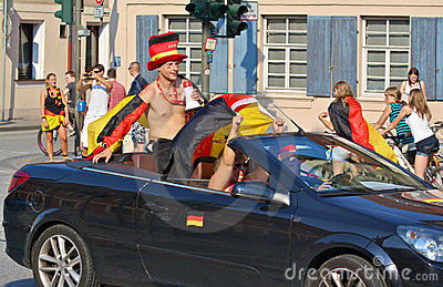 Soccer: German Fans  Editorial Photography