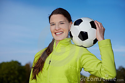 Soccer Woman Royalty Free Stock Images - Image: 15125239