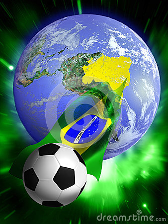Free Soccer World Cup 2014 Royalty Free Stock Photography - 31518667