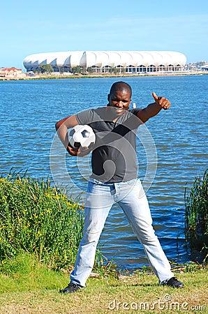 Africa soccer fan