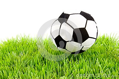 Soccerball on the grass