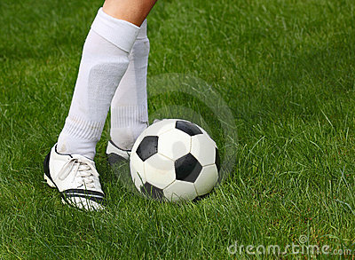 Soccerball and Player