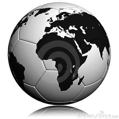 Soccerball With Worldmap Royalty Free Stock Photo - Image: 14211705