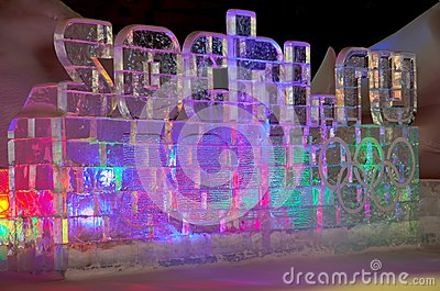 Sochi olympic games ice statue Editorial Stock Photo