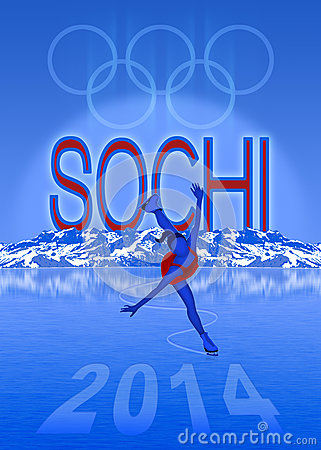 Sochi Olympic Games illustration Editorial Image