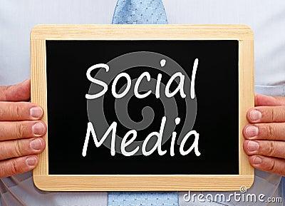 Sociaal media teken
