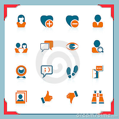 Social and communication icons   In a frame series