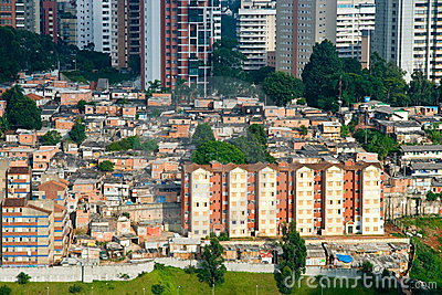 Shanty town in Sao Paulo city