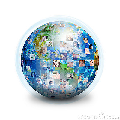 Social Friends Network Globe Stock Image - Image: 18832971