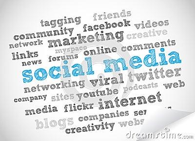 Social media Editorial Stock Image