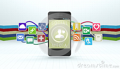 Social Media Editorial Stock Photo