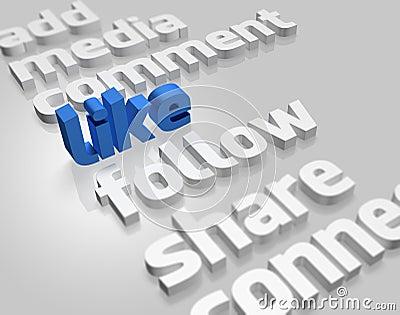 Social Media in 3D Editorial Photo