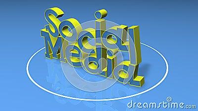 Social Media 3D title