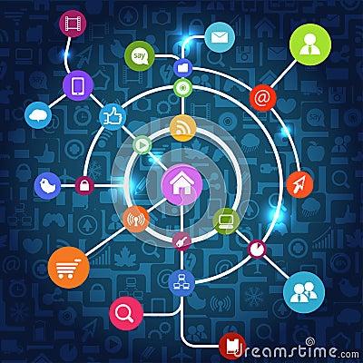 Social media abstract scheme