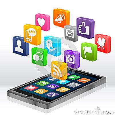 Free Social Media Apps Royalty Free Stock Photo - 25186955