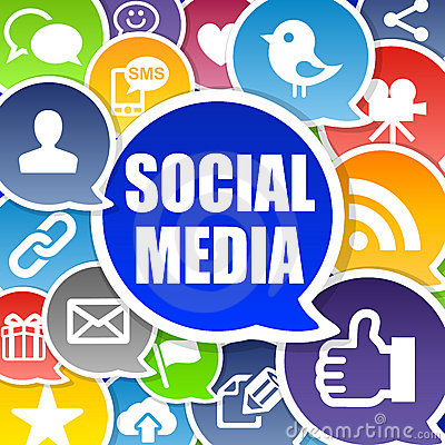 Free Social Media Background Royalty Free Stock Images - 23196419