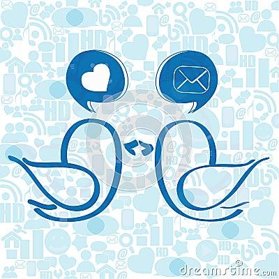 Social media birds
