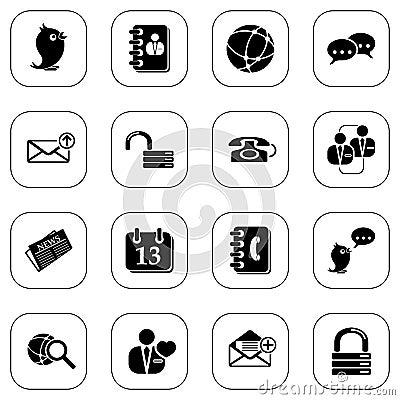 Social media&blog icons - B&W series
