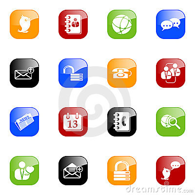 Social media & blog icons - color series
