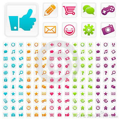 Social Media Business Icons