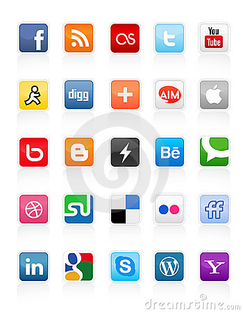 Social Media Buttons 1 Editorial Photography