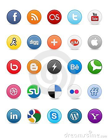 Social Media Buttons Royalty Free Stock Photography - Image: 24164247