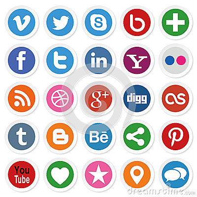 Free Social Media Buttons Stock Image - 42154441