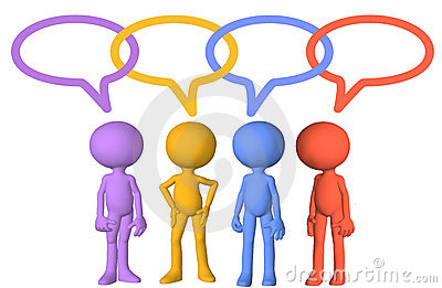 Social media characters talk speech bubble links