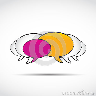 Social media chat balloons