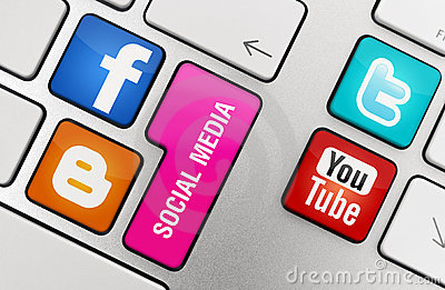 Social Media Concept Editorial Stock Image