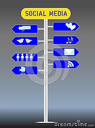 Social media concept,