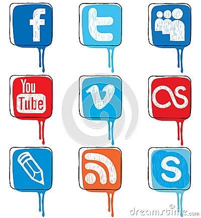 Social Media Concept Editorial Photo