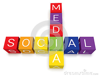 Social Media Crossword Puzzle Blocks