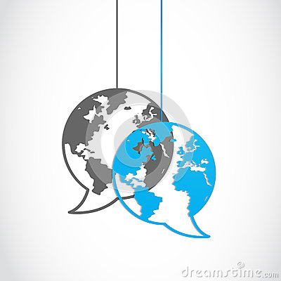 Social media dialog globe