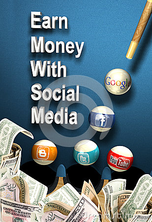 Social media - Earn money Editorial Photography