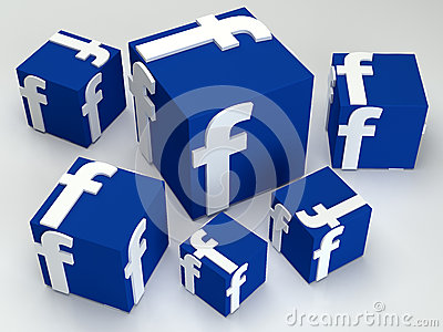 Social media  facebook box Editorial Photo