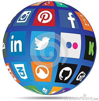 Free Social Media Globe Stock Photo - 39488370