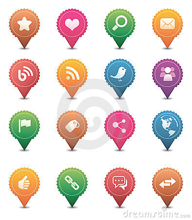 Free Social Media Icons Stock Images - 18701874